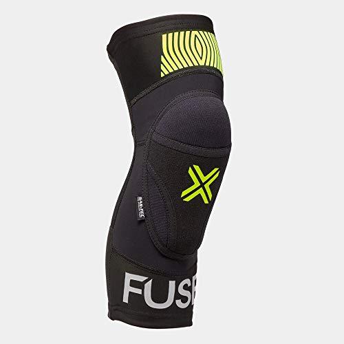 Fuse Omega Knieschoner | schwarz/Neongelb | XL/XXL