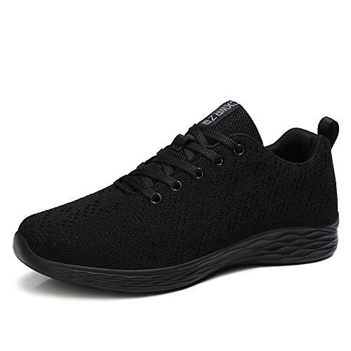 CXWRZB Damen Herren Gym Laufschuhe Turnschuhe Atmungsaktive Sneaker Leichtgewichts Sportschuhe Schwarz C 43 EU