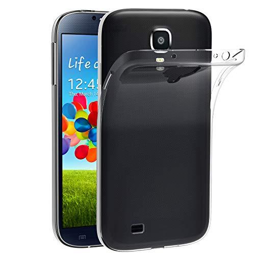 iVoler Compatibile con Cover Samsung Galaxy S4, Silicone Case Molle di TPU Trasparente Sottile Custodia