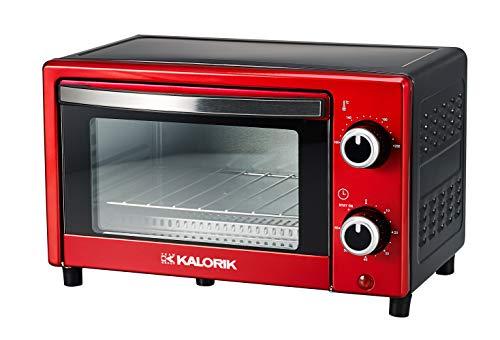 Team Kalorik TKG OT 2025 RD Mini Four 900 Verre Rouge Métallique 9 L