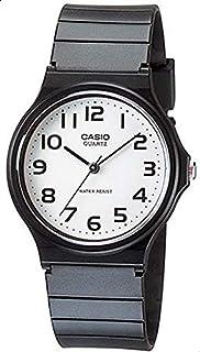 Casio Unisex White Dial Black Resin Band Watch [MQ24-7B2]