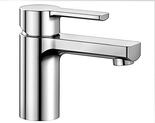 Blanco DEVIN-WT, Waschtischarmatur, Einhebelmischer für Badezimmer, Armatur für Bad-Waschbecken, Oberfläche chrom - mit Ablaufgarnitur