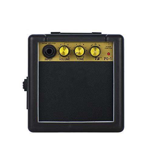 Mini-Gitarrenverstärker Amp Speaker 5W für elektronische Gitarre Personal Practice Tragbarer schwarzer Verstärker mit Batterie