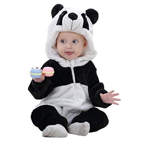 FuMian Neonato Ragazzi Ragazze Panda Modellazione Cartoon Incappucciato Rompers Abiti Vestiti Felpe con Cappuccio Ragazze Pigiama Bambini Abbigliamento