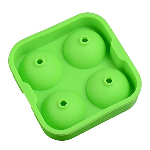 Ice Lolly Moulds 4 Cavity 3D Silikon Whisky Ice Cube Ball Maker Formen Tabletts Formen Bar Zubehör Umweltfreundlich CE/EU BPA Free-Random Color-