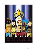 1art1 Star Trek - Das Nächste Jahrhundert TNG Trexels TNG Crew Poster Kunstdruck 80 x 60 cm