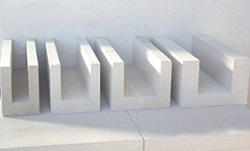 1 Palette Porenbeton U-Schalen 42,5 x 25 x 40cm Paletteninhalt 14,40 Meter, Schalungssteine Deutschlandweit Frachtfrei geliefert