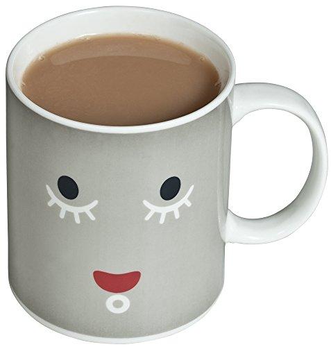 venkon-animated sensibile al calore tazza con effetto termico/Cacao/Effetti termico per tè/caffè/latte/acqua 0,3l, Ceramica, Smily Face