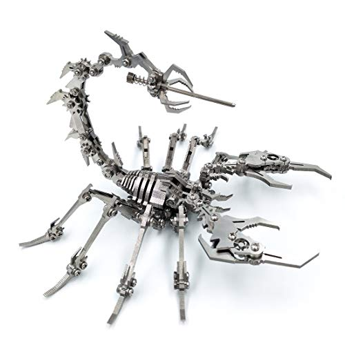 Teakpeak Metall 3D Modell, Skorpion Metall DIY Metal Model Kit Metall 3D Puzzle Laserschnitt Metall Metallbausatz 3D Konstruktionsspielzeug Metall Skorpion Puzzle