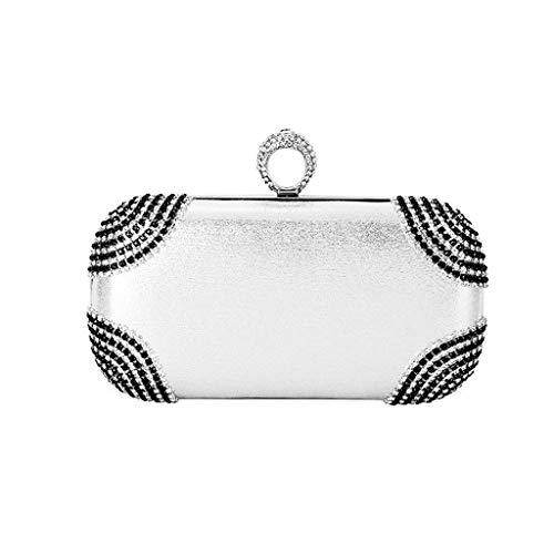 Nuevo bolso de cena de perlas giratorias bolso de banquete de mujer regalo de mujer bolso de embrague de noche fiesta de moda personalidad de moda salvaje que data bolso de vestido diagonal de un solo