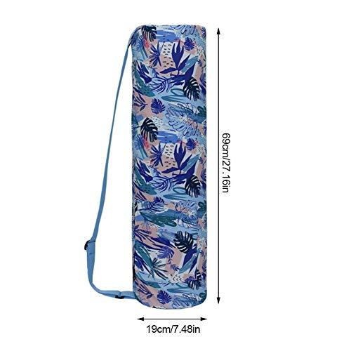 Sue-Supply Tasche für Yogamatte wasserabweisend, mit Reißverschluss-Tasche, Faltbare Leinwand Yoga Übung Matte Tote Rucksack Tragetasche Fitness Yoga Matte Tasche, 19×69cm, nur Tasche