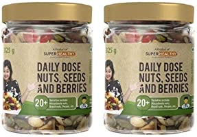 Super Healthy Dry Fruit Nuts, Seeds & Berries Organic Mix | Nutritious, Roasted and Crunchy Trail Snack | 20+ Varieties...