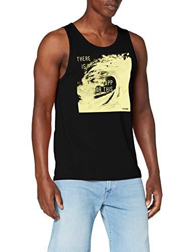 Q/S designed by - s.Oliver Herren 520.12.005.12.130.2005677 Trägershirt/Cami Shirt, 9999 Black, XL