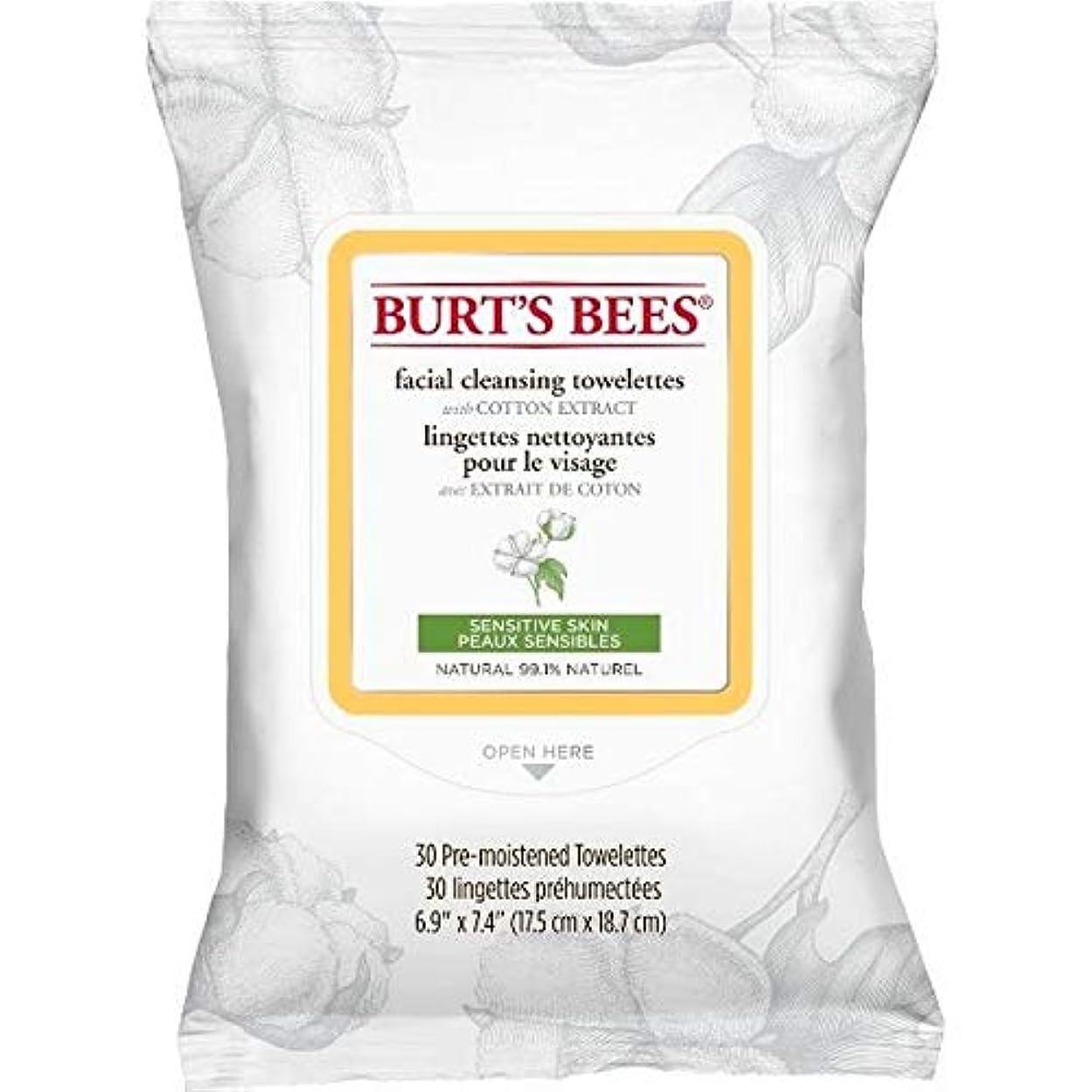 したがってスパーク描写[Burt's Bees ] バーツビー敏感な顔の浄化用ペーパータオルエキスX30 - Burt's Bees Sensitive Facial Cleanse Towelettes Extract x30 [並行輸入品]