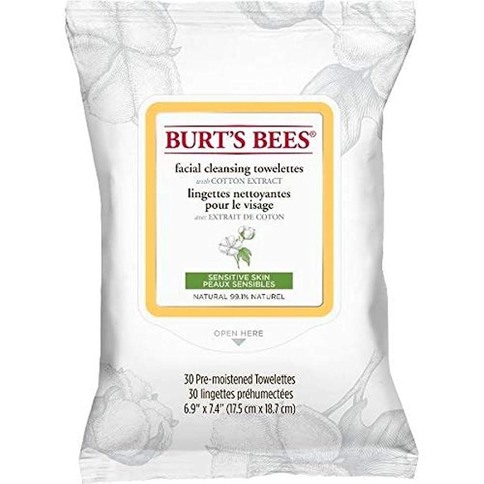 雇用納屋透過性[Burt's Bees ] バーツビー敏感な顔の浄化用ペーパータオルエキスX30 - Burt's Bees Sensitive Facial Cleanse Towelettes Extract x30 [並行輸入品]