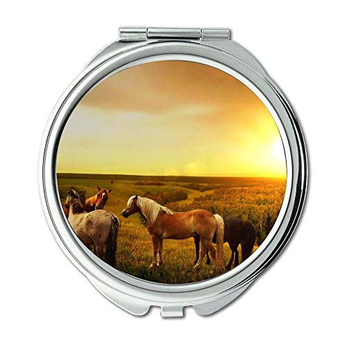 Yanteng Spiegel, Compact Mirror, Landwirtschaft Tiere Atmosphäre, Taschenspiegel, Tragbare Spiegel