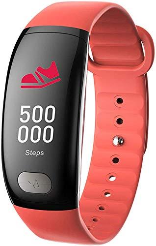 GANG Fitness Tracker Watch Smartwatches con la Presión Arterial Tasa Del Corazón Monitor de Sueño Ip67 Pulsera Impermeable Paso Contador Smartphone-Orange Exquisito/naranja