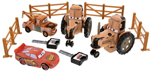 Disney Parks Exclusive Cars Land Tractor Tipping Playset with Mater and Lighting McQueen by Disney