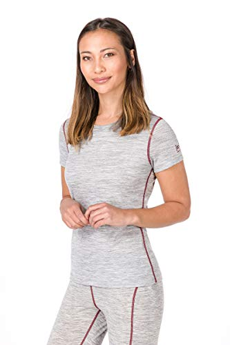 super. Natural W Base 175 Femme en Laine mérinos T-Shirt S Ash Melange/Pomegranate