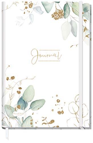 Bullet Journal dotted A4+ mit Gummiband [Blattgold] 156 Seiten | Notizbuch gepunktet, Skizzenbuch, Tagebuch von Trendstuff by Häfft | nachhaltig & klimaneutral