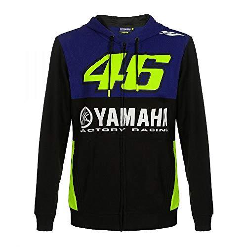 Valentino Rossi Yamaha Dual-Racing, Full Zip Hoodie Homme, Homme, YDMFL362209004, Royal Blue, XL