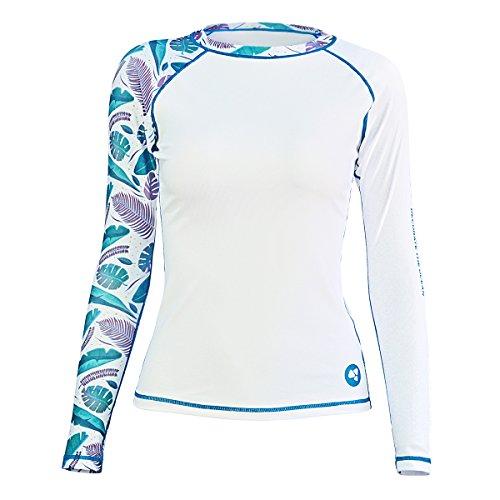 LayaTone Rash Guard Women Swimsuit Swimwear Tops Athletic Suit Dive Skin Surf Suit Water Sports Rashguards Long Sleeves T-Shirts Women Lady