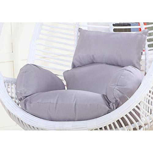 Hangende stoel Hangende stoel stoel stoel stoel kussen, comfortabele ademende individuele hangstoel kussen voor opknoping mand rieten stoel rug kussen Grijs