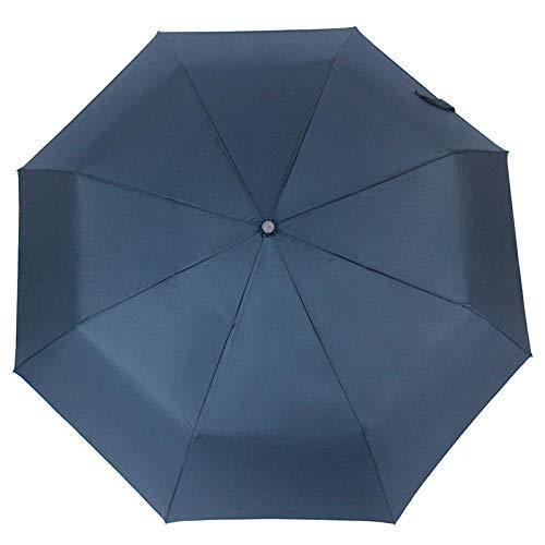 Parasol Parapluie Parapluie Automatique Pliable Résistant Au Vent Pluie Femmes Homme Auto Luxe Grand Parapluies Coupe-Vent pour Hommes Couleur De La Pluie Poignée Parasol Bleu