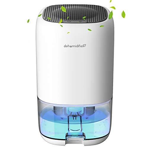 UGHEY Dehumidifier 1000ml Small Dehumidifier Mini Electric Dehumidifier, Air Cleaner, Portable and Compact Ultra Quiet for Home, basements, Bedroom, Bathroom, Garage, Wardrobe