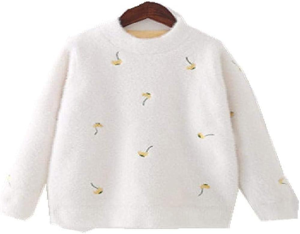 Yhsuk Autumn and Winter New Children's Sweater Round Neck Pullover Girl's Medium and Large Children's