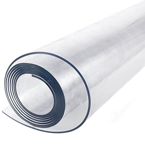 Protector de mesa de plástico transparente resistente de 2 mm para manteles de 155 x 90 cm