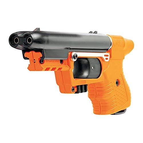 KOSxBO® Pfefferspray Pistole inklusive Magazin Jet Protector JPX frei verkäufliche Pfefferspraypistole zur Tierabwehr in orange - Pepper Gun Security