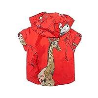 DHDHWL ペット服 犬服 子犬猫コスチュームのために犬パーカーのために小型犬ウインドブレーカーのためにチワワフレンチブルドッグペットジャケット #c (Color : Red, Size : L)