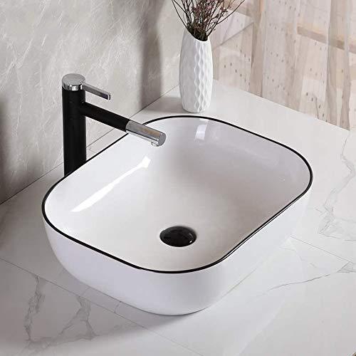 Fregadero de baño de baño Fregadero del Recipiente Topmount Plaza Lavabo de...