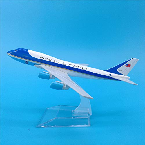 DAYUFEI 16 cm US Presidential Aircraft Air Force One Boeing B747 Flugzeugmodell Dekoration Air Force One Dekoration Modell Flugzeug Toydecoration DIY Flugzeug Flugmodell