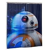 Star The Wars Mandalorian R2-D2 - Cortina de Ducha para baño (152cm x 183cm, con 12 Ganchos)