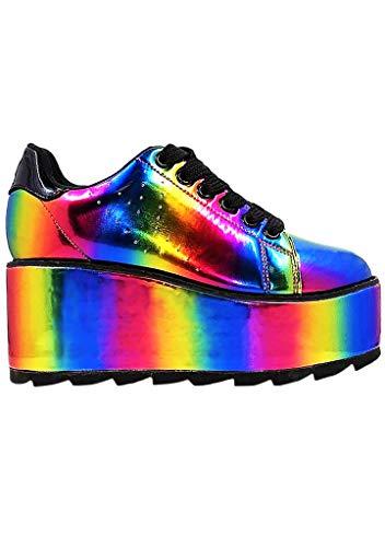 YRU Y.R.U. LALA Rainbow Platform Sneakers (6)