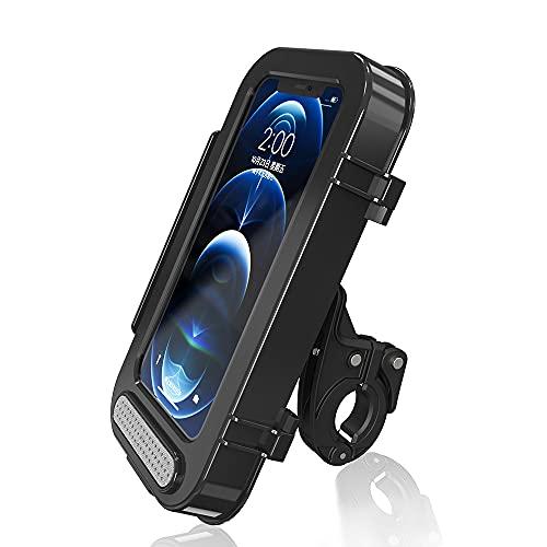 Dee Plus Funda Móvil para Bicicleta, Soporte Movil Bicicleta Fundas Carcasas Impermeable Soporte Telefono Pantalla Táctil Sensible 360°Rotación Anti Vibración para Smartphones de Menos de 7,0'