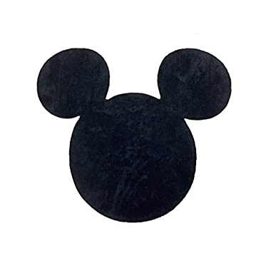 Disney Mickey Mouse Black Cotton Tufted Bath Rug (Official Disney Product)