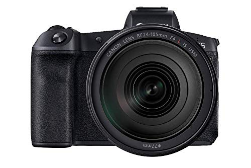 Canon EOS R Vollformat Systemkamera mit Objektiv RF 24-105mm F4 L IS USM mit Bajonettadapter EF-EOS R (30,3 MP, 8,01cm (3,2 Zoll) Clear View LCD II Display, DIGIC 8, 4K Video, WLAN, Bluetooth) schwarz