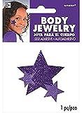 Amscan Stars Assorted Sizes Glitter Self-Adhesive Body Jewelry, 1, Purple
