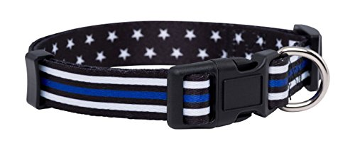Native Pup Thin Blue Line Dog Collar- Stars (Small)