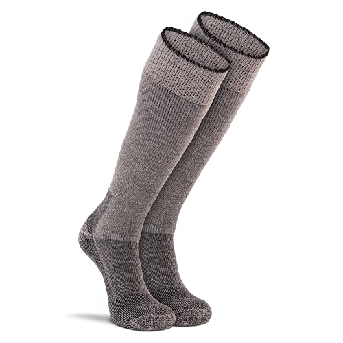 FoxRiver Wool Thermal Socks for Men Heavyweight Mid Calf Work Boot Socks Thermalined for Cold Weather Performance - Grey - X Large