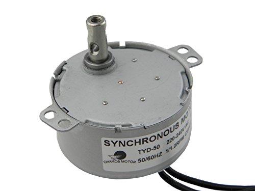 CHANCS TYD-50 Baja Velocidad Motor Síncrono 1RPM CA 220v / 240V CW/CCW (UNDIREKTIONAL) Motor Reductor de CA Pequeño
