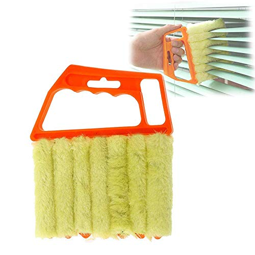 Blind Cleaner Tool,7 Finger Dusting Cleaner Tool, Window Air Conditioner Duster Dirt Cleaner Housework Tool, Washable 1pcs