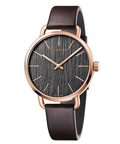 Calvin Klein Reloj Analogico para Mujer de Cuarzo con Correa en Cuero K7B216G3