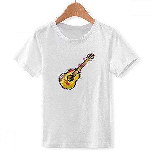 DIYthinker Guitarra Instrumento mexicon Elemento de ilustración de Cuello Redondo Camiseta para Chico