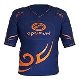 OPTIMUM pour Homme Cinq Pad Classique Tribal de Protection épaule Pad, Homme, Bleu Marine/Orange, x-Large
