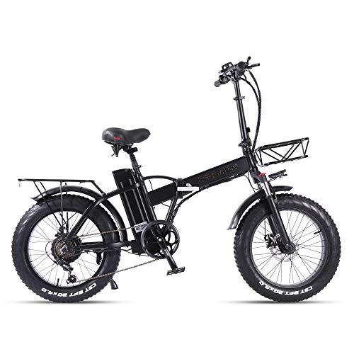 E-Bike Elektrofahrrad Klapprad 20 Zoll Fat Bike 750W 48V 15Ah 7-Gang MTB für Pendeln Herren Damen Cityräder