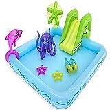 inChengGouFouX Piscina Inflable Casera Piscina de recreación de Verano niños diversión al Aire Libre Piscina Inflable Experiencia Confortable (Color : Blue, Size : 239x206x86cm)